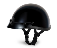 Smokey with Snaps- Hi-Gloss Black | Daytona Helmets