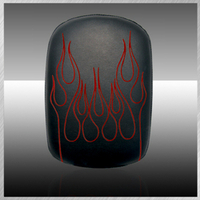SPECTOR- VINYL FLAME EMBROIDERY IN RED
