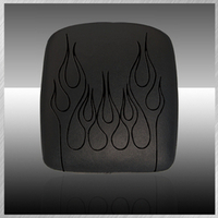 GHOUL- VINYL FLAME EMBROIDERY IN BLACK