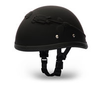 Eagle 3-D Rose- Dull Blk | Daytona Helmets