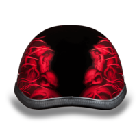 Eagle- W/ Multi Skull Flames Red | Daytona Helmets