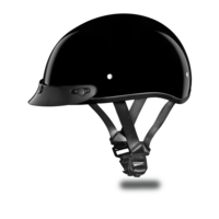 Kids Motorcycle Helmet Hi-Gloss Black | D.O.T. DAYTONA SKULL CAP JR.