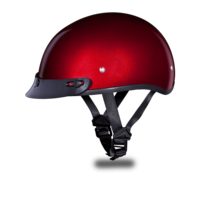 Black Cherry Metallic Skull Cap Motorcycle Helmets | 3XL & 4XL