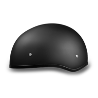 Skull Cap Motorcycle Helmets | Daytona 1/2 Shell Dull Black