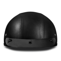 D.O.T. Daytona Skull Cap- Leather Covered