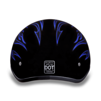 Daytona Graphic  Motorcycle Helmets | Blue Flames | D.O.T. Approved