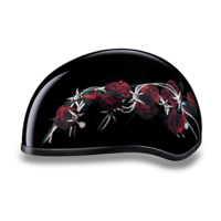 Daytona Graphic Motorcycle Helmets | Barbed Roses | D.O.T. Approved