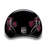Graphic Motorcycle Helmets Barbed Roses | D.O.T. Approved