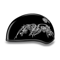 Graphic Motorcycle Helmets Barbed Skulls | D.O.T. Approved