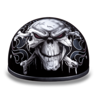 Graphic Motorcycle Helmets Cross Bones | D.O.T. Approved
