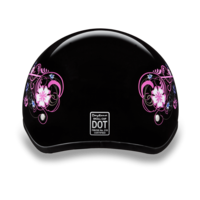 Daytona Graphic Motorcycle Helmets  | Flowers | D.O.T. Approved