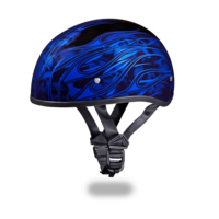 Daytona Graphic Motorcycle Helmets | Multi Skull Flames Blue | D.O.T.