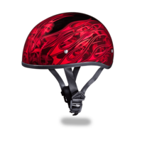 Daytona Graphic Motorcycle Helmets | Multi Skull Flames Red | D.O.T.
