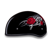 Daytona Graphic Motorcycle Helmets  | Rose | D.O.T. Approved