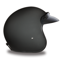 D.O.T. Dull Black Motorcycle Helmets | 3/4 Shell | Daytona Cruiser