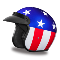 D.O.T. Approved 3/4 Shell Helmets | Daytona Cruiser | Captain America Helmet