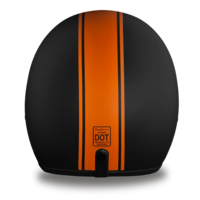 D.O.T. Approved Orange Pin Stripe  Helmet