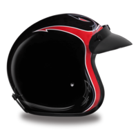 D.O.T. Approved Pinned Black Cherry Helmet