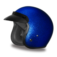 D.O.T. Daytona Cruiser |  Blue Metal Flake Helmet