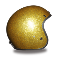 Cruiser Gold Metal Flake Helmet | 3/4 Shell Helmets