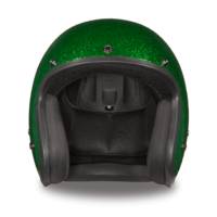 D.O.T. Daytona Cruiser Green Metal Flake Helmet