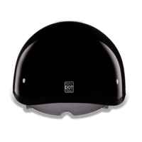 D.O.T. Daytona Skull Cap Hi - Gloss Black | Smoke Shield