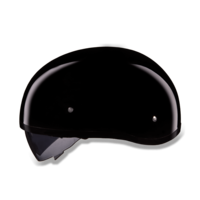 D.O.T. Daytona Skull Cap | Hi - Gloss Black  Smoke Shield