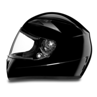 D.O.T. Daytona Shadow- Hi-Gloss Black Full Face Motorcycle Helmets