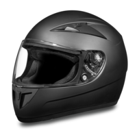 D.O.T. Daytona Shadow | Dull Black Full Face Motorcycle Helmets