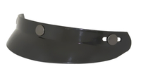 HALF BUBBLE VISOR- GLOSS BLACK