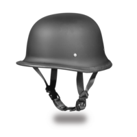 D.O.T. German Dull Black German Motorcycle Helmets