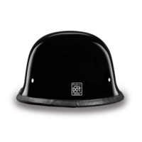 D.O.T. German Hi-Gloss Black German Motorcycle Helmets