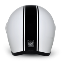 D.O.T. Black Pin Stripe Full Face Motorcycle Helmets
