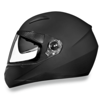 D.O.T. Daytona Shifter with Shield Dull Black  | Full Face Motorcycle Helmet