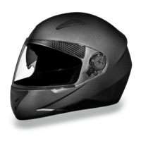 D.O.T. Daytona Shifter with Shield | Gun Metal Grey | Full Face Motorcycle Helmet