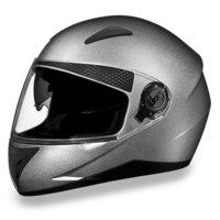 D.O.T. Daytona Shifter | Silver Metallic  | Full Face Motorcycle Helmet
